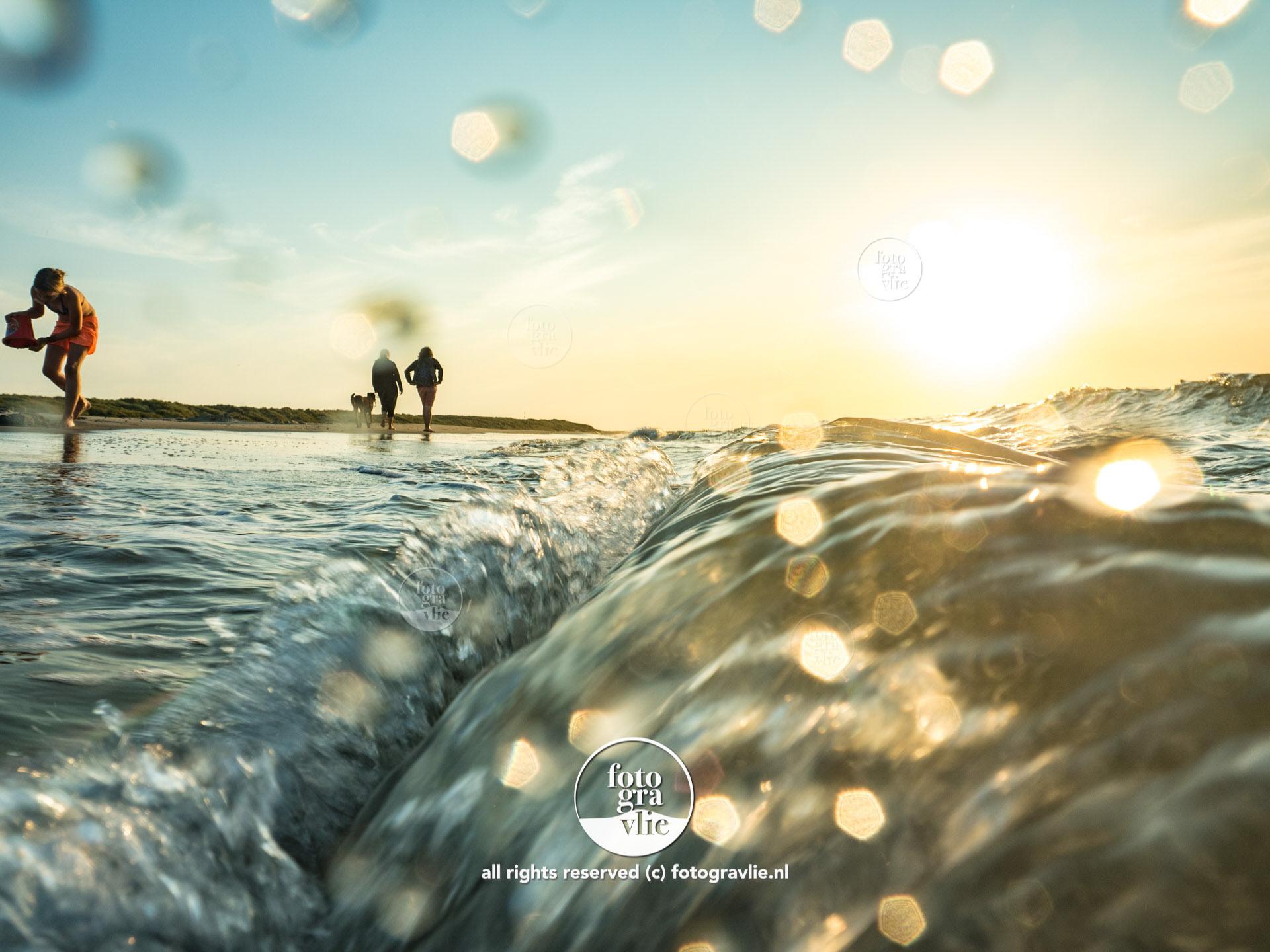 golf golven noordzee Vlieland foto - fotograaf vlieland - portfolio fotogravlie